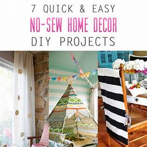 7 Quick and Easy No-Sew Home Decor DIY Projects - The ...