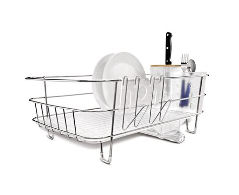 simplehuman dish rack kitchen lovely picture of rectangular stainless steel