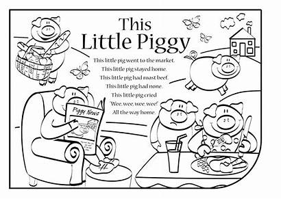 Piggy Lyrics Rhyme Nursery Activity Coloring Rhymes