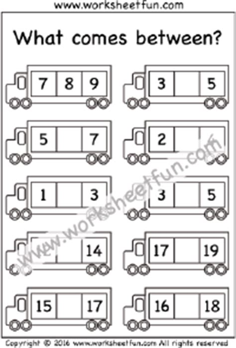 what comes after preschool numbers before after and between free printable 739