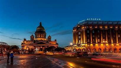 Petersburg St Russia Hotel Astoria Night Street