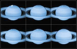 Hubble Views Auroral Lights at Saturn's North Pole