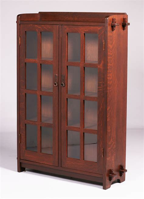 Two Door Bookcase by L Jg Stickley Two Door Bookcase California Historical Design