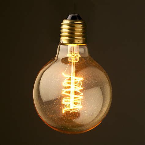 vintage edison spiral tungsten filament bulb