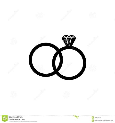 wedding rings icon element of life married people