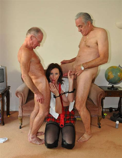Old Men Sex Between Horny Grandpas and Lara Latex - Old Libertines