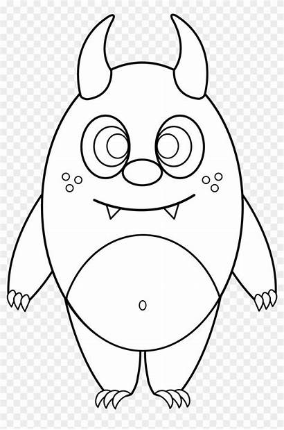 Monster Drawing Easy Line Coloring Monsters Silly