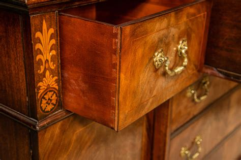 storage cabinet kitchen mahogany inlaid two breakfront or bookcase cabinet 2546