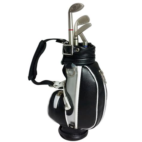 mini golf de bureau stylos billes en forme de de golf avec sac miniature