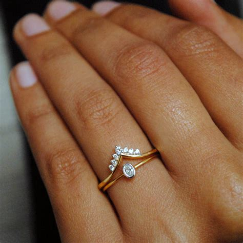 oval engagement ring wedding ring 14k discovered