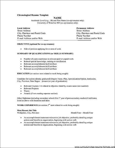 professional resume format   samples examples