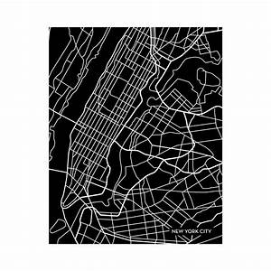 New York City Map (Black)