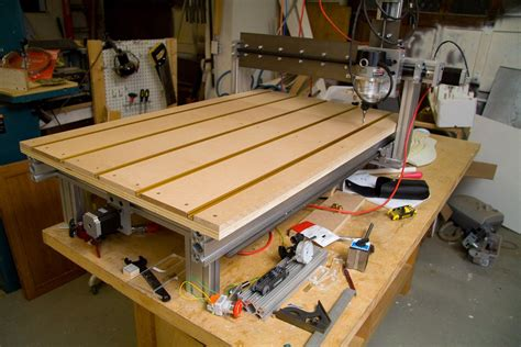 home built cnc machine    working area maker