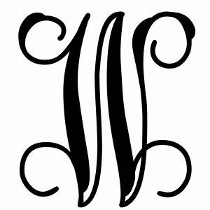 Vine monogram letter w initial initials monograms and for Initial letters