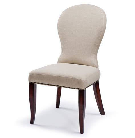bunyan rustic lodge linen upholstered dining chair