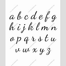 1950s Cursive Script A To Z Lowercase Letter Stencils  Chic Tattoos & Lettering