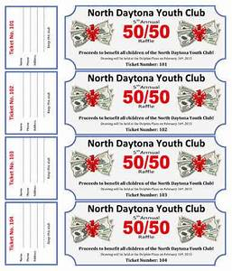 50 50 cash raffle ticket template for youth club for 50 50 raffle tickets template