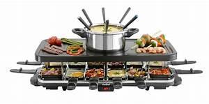 Raclette Und Fondue Set : vonshef 12 person raclette grill cooking gizmos ~ Michelbontemps.com Haus und Dekorationen