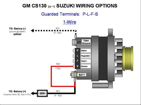 Alternator Wiring Plfs Wire