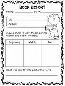 printable book report forms elementary book and book With book report template grade 1