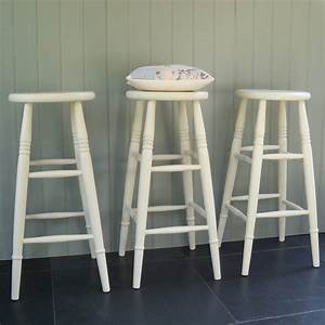Custom Height Stools Hand Painted In Any Colour By Rectory Blue