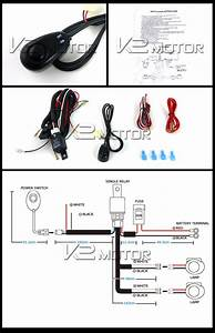 Off Road Led Working Lights Wiring Kit  4x4
