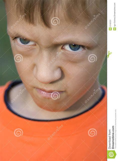 angry kid stock image image