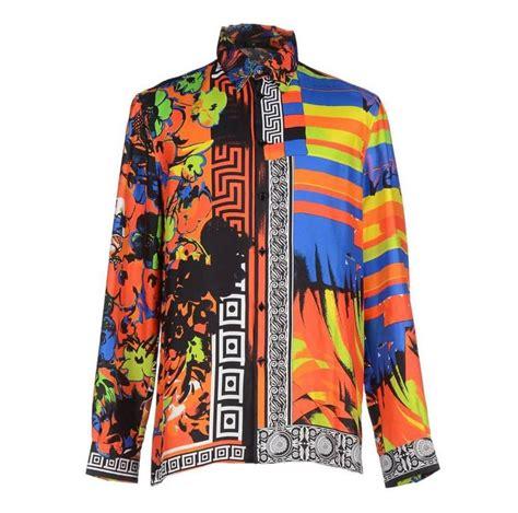 batik satin versace printed 100 silk shirt as seen on bruno mars at