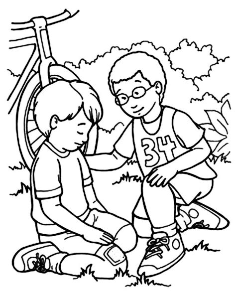 showing kindness coloring pages  getcoloringscom
