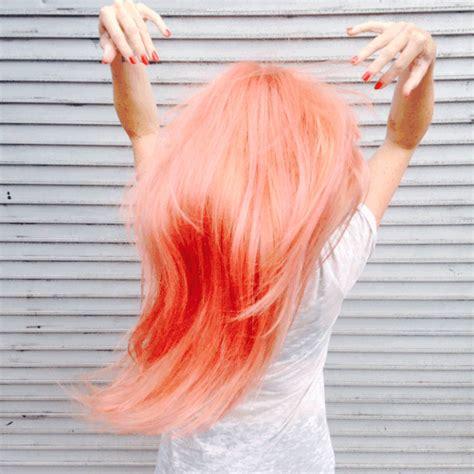 Peached Hair Pink Hair Dye Colored Hair Tips Peach Hair