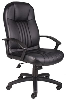 high back leather plus chair