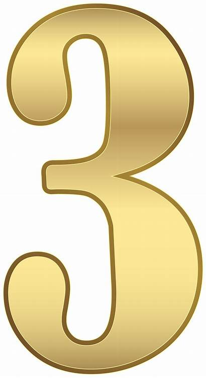 Transparent Number Three Numbers Yopriceville Clipart