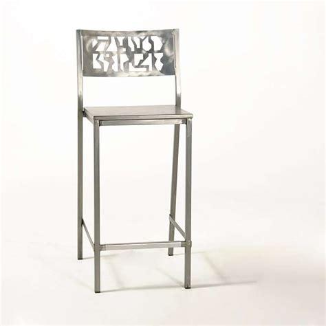 chaise de bar 4 pieds tabouret de bar en acier brossé slide industriel 4 pieds tables chaises et tabourets