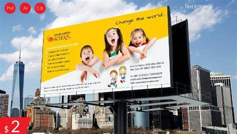 stunning kindergarten school billboard
