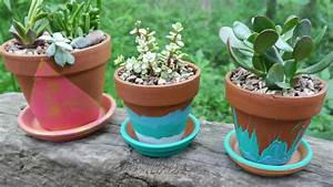 Easy, Hand, Painted, Terracotta, Pots