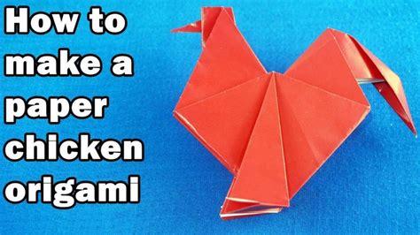 membuat origami ayam jago mudah origami chicken