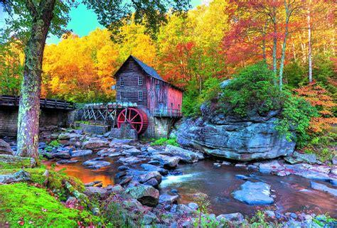 Grist Mill In Autumn 8k Ultra Fond D'écran Hd