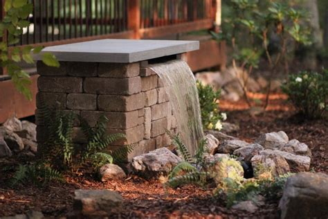 how to build a waterfall wall build a stone waterfall fountain hgtv
