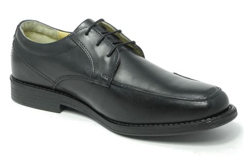 black comfortable work shoes mens tredflex black leather comfort memory foam smart