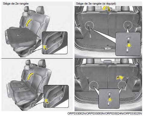 kia carens réglage du siège arrière siège