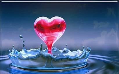 Water Desktop Wallpapers Heart Glas Achtergronden Backgrounds