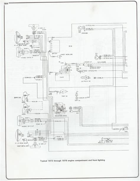 Chevy Motor Wiring Diagram by Wiring Diagram 1973 1976 Chevy Chevy Wiring