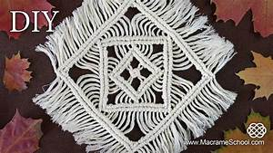 Macrame Tablecloth Tutorial Table Mats & Table