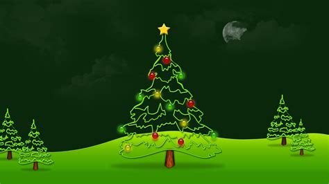 beautiful green merry tree hd wallpaper
