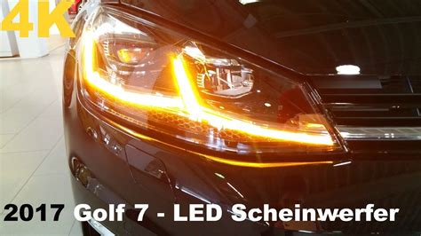 led scheinwerfer golf 7 2017 vw golf 7 facelift led scheinwerfer dynamischer blinker als 4k