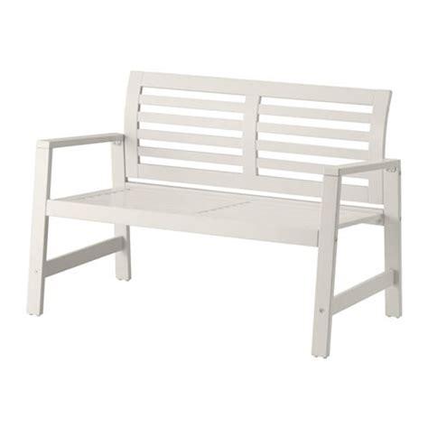 ÄpplarÖ Bench With Backrest, Outdoor  White Ikea