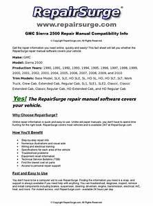 Gmc Sierra 2500 Online Repair Manual For 1990  1991  1992