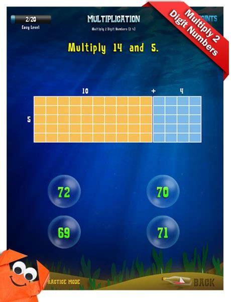 third grade math apps multiplication multiply 2 digit numbers worksheet pinterest number