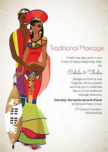 South african zulu traditional wedding invitation card for Traditional wedding invitations in south africa