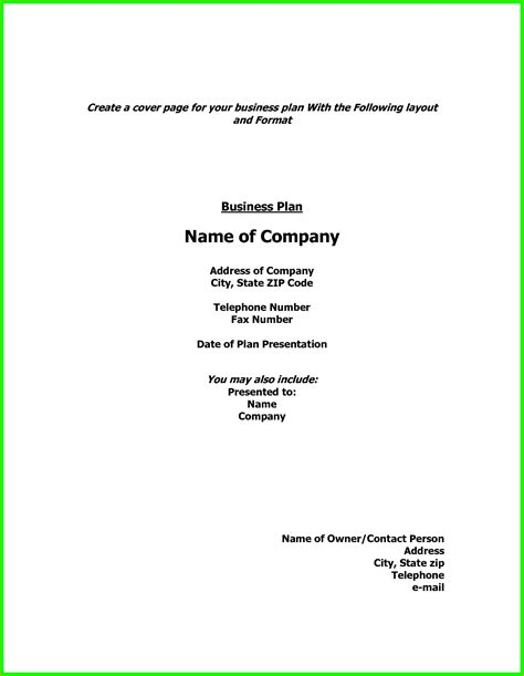 Cover Letter For Business Plan by Show Exle Cover Page Business Plan Ver Letter Sle